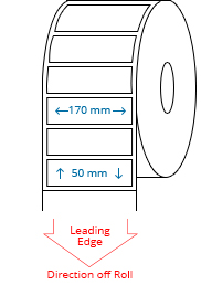 170 mm x 50 mm Roll Labels