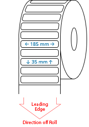 185 mm x 35 mm Roll Labels