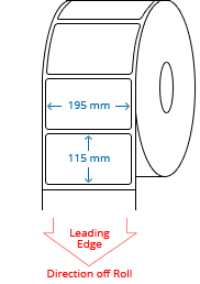 195 mm x 115 mm Roll Labels
