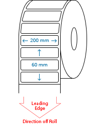 200 mm x 60 mm Roll Labels