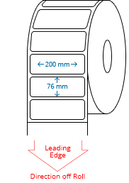 200 mm x 76 mm Roll Labels