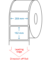 203 mm x 152 mm Roll Labels