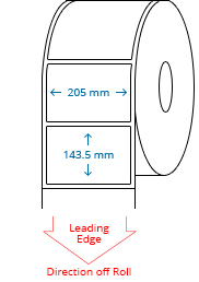 205 mm x 143.5 mm Roll Labels