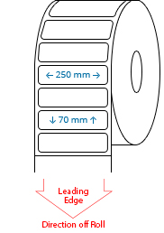 250 mm x 70 mm Roll Labels