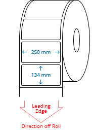 250 mm x 134 mm Roll Labels