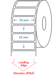 76 mm x 25 mm Roll Labels