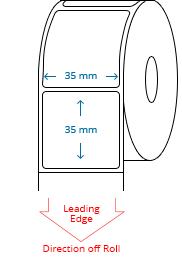 35 mm x 35 mm Roll Labels