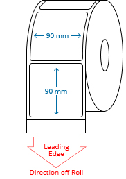 90 mm x 90 mm Roll Labels