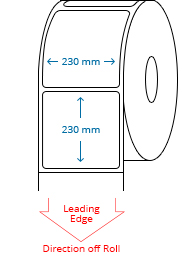 230 mm x 230 mm Roll Labels