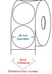 45 mm Étiquettes de rouleau de cercle
