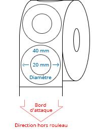 40 (20) mm Étiquettes de rouleau de cercle