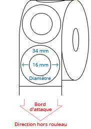 34 (16) mm Étiquettes de rouleau de cercle