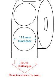 115 mm Étiquettes de rouleau de cercle