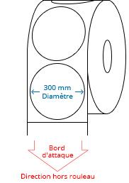 300 mm Étiquettes de rouleau de cercle