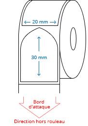 20 mm x 30 mm Étiquettes à rouleaux