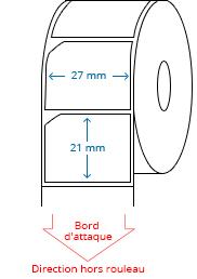 27 mm x 21 mm Étiquettes à rouleaux