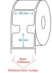 30 mm x 50 mm Étiquettes à rouleaux