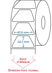 42.6 mm x 24.2 mm Étiquettes à rouleaux