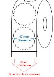 47 mm x 47 mm Étiquettes à rouleaux