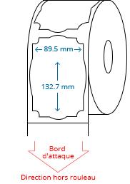 89.5 mm x 132.7 mm Étiquettes à rouleaux