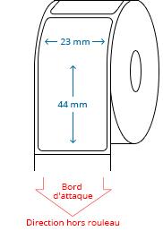 23 mm x 44 mm Étiquettes à rouleaux