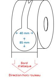 40 mm x 85 mm Étiquettes à rouleaux