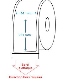 44 mm x 281 mm Étiquettes à rouleaux