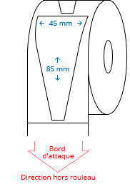 45 mm x 85 mm Étiquettes à rouleaux