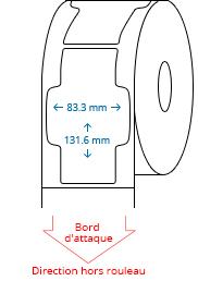 83.3 mm x 131.6 mm Étiquettes à rouleaux