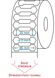 85 mm x 25 mm Étiquettes à rouleaux