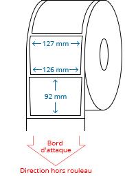 127 (126) mm x 92 mm Étiquettes à rouleaux