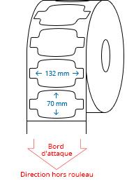 132 mm x 70 mm Étiquettes à rouleaux