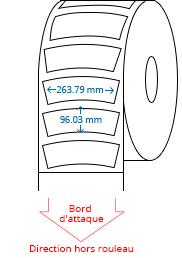 263.79 mm x 96.03 mm Étiquettes à rouleaux