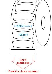 283.59 mm x 108 mm Étiquettes à rouleaux