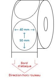 40 mm x 50 mm Étiquettes à rouleaux