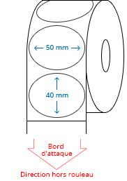 50 mm x 40 mm Étiquettes à rouleaux