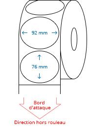 92 mm x 76 mm Étiquettes à rouleaux