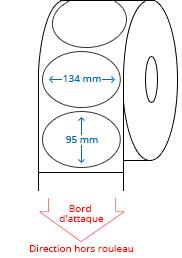 134 mm x 95 mm Étiquettes à rouleaux