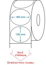 180 mm x 130 mm Étiquettes à rouleaux