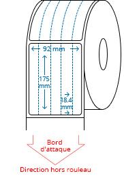 92 mm x 175 mm Étiquettes à rouleaux