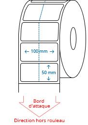 100 mm x 50 mm Étiquettes à rouleaux