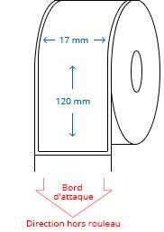 17 mm x 120 mm Étiquettes à rouleaux