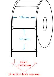 19 mm x 26 mm Étiquettes à rouleaux