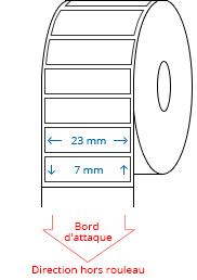 23 mm x 7 mm Étiquettes à rouleaux