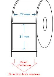 27 mm x 31 mm Étiquettes à rouleaux