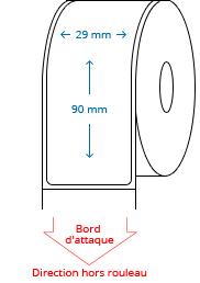 29 mm x 90 mm Étiquettes à rouleaux