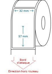 32 mm x 57 mm Étiquettes à rouleaux