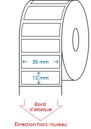 35 mm x 12 mm Étiquettes à rouleaux