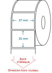 37 mm x 32 mm Étiquettes à rouleaux