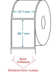 37.7 mm x 49.7 mm Étiquettes à rouleaux